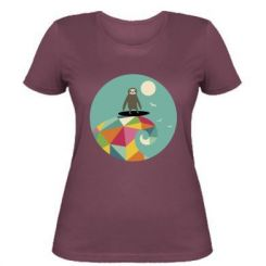 Жіноча футболка Sloth on a wave
