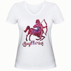 Жіноча футболка з V-подібним вирізом Стрілець зірки