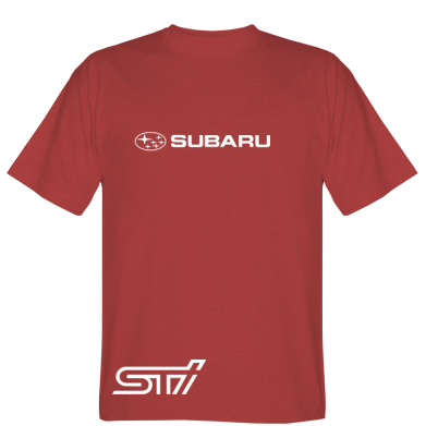 Футболка Subaru STI лого