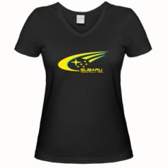 Купити Жіноча футболка з V-подібним вирізом Subaru WRT