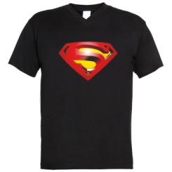 Чоловічі футболки з V-подібним вирізом Superman Emblem