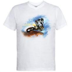 Чоловіча футболка з V-подібним вирізом Suzuki Art