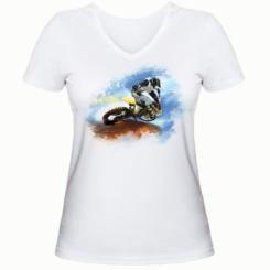 Жіноча футболка з V-подібним вирізом Suzuki Art