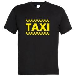 Купити Чоловічі футболки з V-подібним вирізом TAXI
