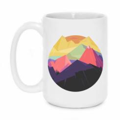 Кружка 420ml The mountains Art