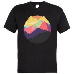Чоловіча футболка з V-подібним вирізом The mountains Art