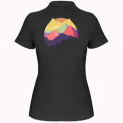 Жіноча футболка поло The mountains Art