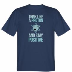 Футболка Think like a proton
