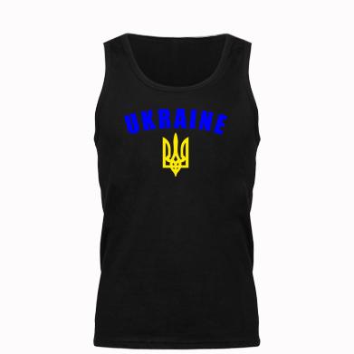 Майка чоловіча Ukraine + герб