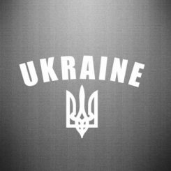 Наклейка Ukraine + герб