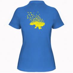 Жіноча футболка поло Українські птахи
