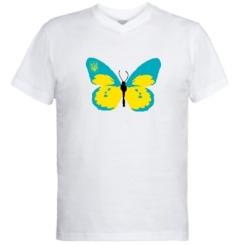 Купити Чоловічі футболки з V-подібним вирізом Український метелик