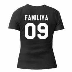 Жіноча футболка Ваше прізвище та номер