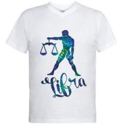 Чоловіча футболка з V-подібним вирізом Терези зірки