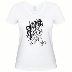 Купити Жіноча футболка з V-подібним вирізом Virgo (Діва)