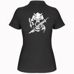Жіноча футболка поло Вовк з мечем
