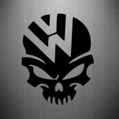 Наклейка Volkswagen Skull
