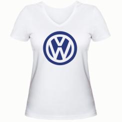 Купити Жіноча футболка з V-подібним вирізом Volkswagen