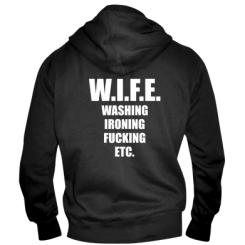 Чоловіча толстовка на блискавці W.I.F.E.