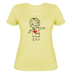 Жіноча футболка Я люблю його