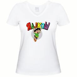 Жіноча футболка з V-подібним вирізом Яалкаш