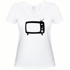 Купити Жіноча футболка з V-подібним вирізом Ящик
