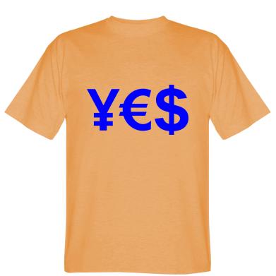 Футболка валюта YES