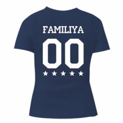 Жіноча футболка Yourname and number
