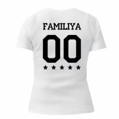 Жіноча футболка з V-подібним вирізом Yourname and number