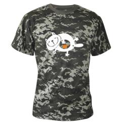 Купити Камуфляжна футболка Жирний кіт