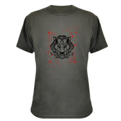 Камуфляжна футболка Злий лев