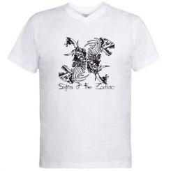 Купити Чоловічі футболки з V-подібним вирізом Знаки зодіаку