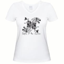 Купити Жіноча футболка з V-подібним вирізом Знаки зодіаку